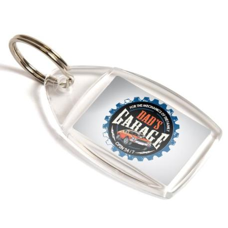 P5 Rectangular Blank Plastic Photo Insert Keyring - 35 x 24mm Thumbnail