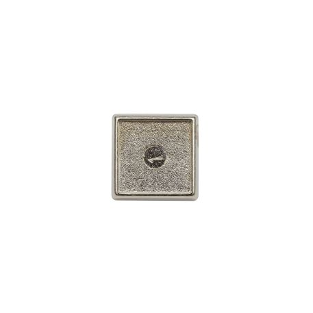 15mm Square Butterfly Pin Back Silver Metal Blank Badge (PIN-10-BADGE) Thumbnail