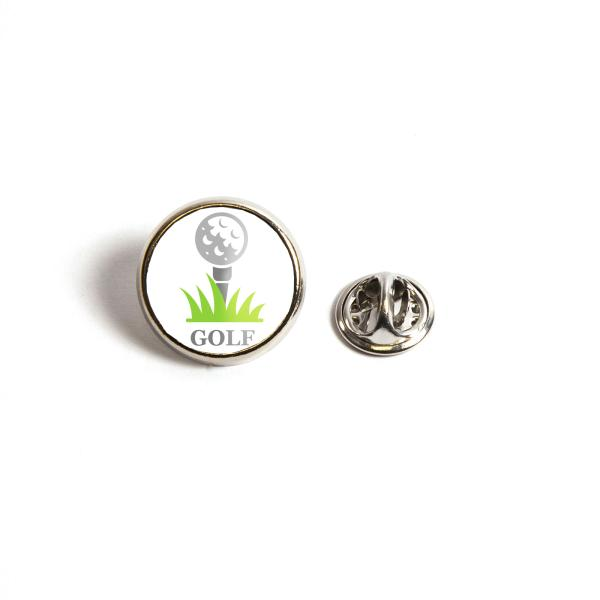 17mm Round Butterfly Pin Back Silver Metal Blank Badge (PIN-17-BADGE) Thumbnail