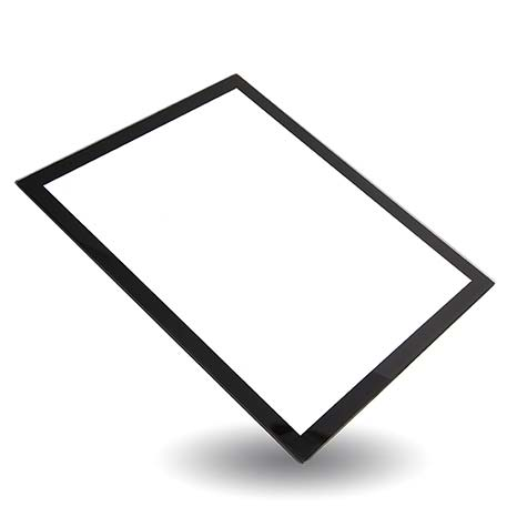 Blank 250 x 200mm Glass Place Mat - Black Thumbnail