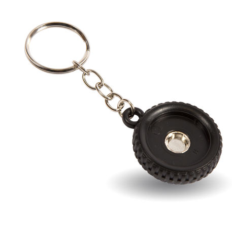 R25 Round Blank Plastic Photo Insert Wheel Tyre Keyring - 25mm Thumbnail