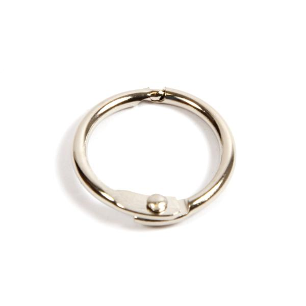 19mm Nickel Plated Hinged Joining Book Ring (RH19N)
