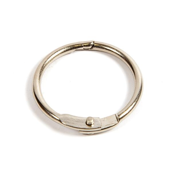 25mm Nickel Plated Hinged Joining Book Ring (RH25N)