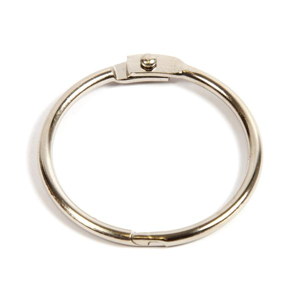 38mm Nickel Plated Hinged Joining Book Ring (RH38N)