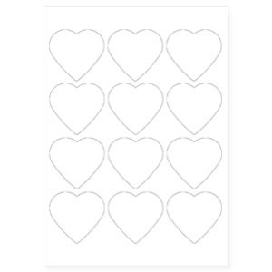 58mm x 50mm S-HEART Shaped Keyring Pre-Cut Paper Inserts (S-HEART-PAPER)