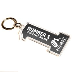 S-ONE Blank 69mm x 37mm Number One Keyring