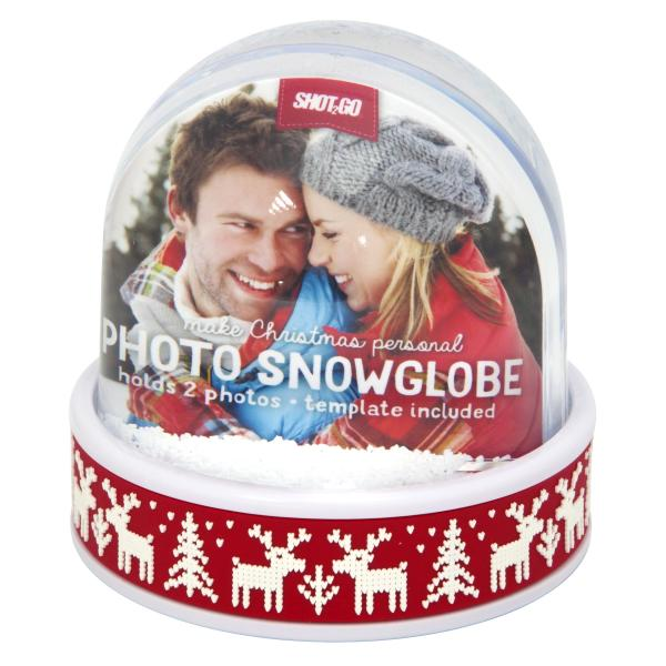 70mm x 62mm Blank Red Reindeer Snow Dome (SD2-RED-REINDEER)