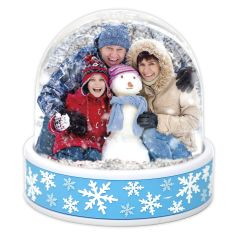 Blank 70mm x 62mm Blue Snowflake SNOW Dome (SD2 Blue Snowflake)