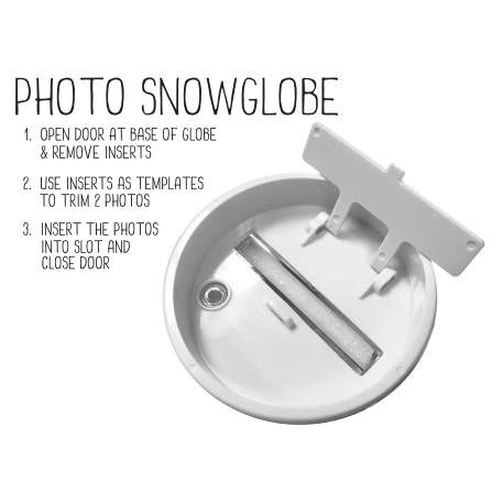 70mm x 62mm Blank Polar Bear Snow Dome (SD2-POLAR-BEAR) Thumbnail