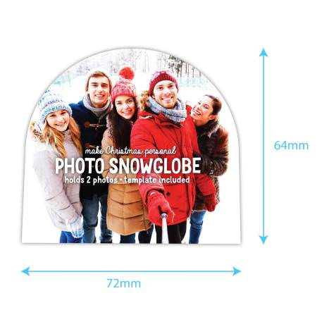 70mm x 62mm Blank Red Snowflake Snow Dome (SD2-RED-SNOWFLAKE) Thumbnail