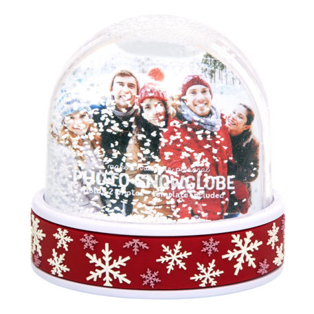 70mm x 62mm Blank Red Snowflake Snow Dome (SD2-RED-SNOWFLAKE)