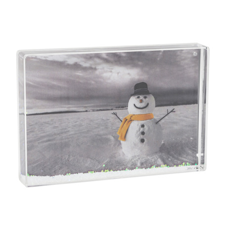 Blank Snow Frame Photo Block Insert 152 x 102mm (6 x 4 inch) (SF64) Thumbnail