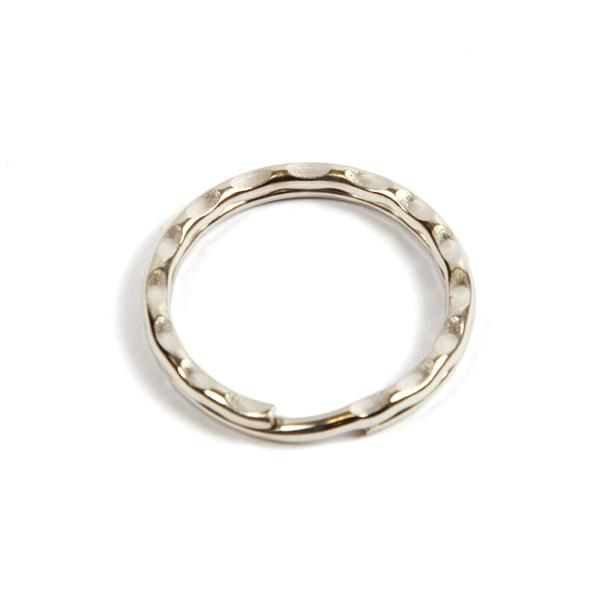 25mm Nickel Plated Spring Steel Ripple Split Ring (SR25R)