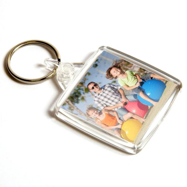 U202 Square Blank Plastic Photo Insert Keyring - 38mm