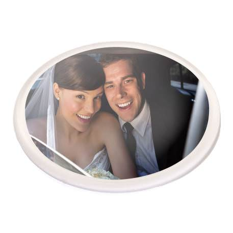 V1 Round Blank Plastic Photo Insert Coaster - 90mm
