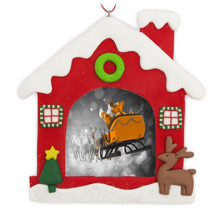 70mm x 62mm Blank Snow House Christmas Tree Ornament (XORN2-SNOW-HOUSE) Thumbnail