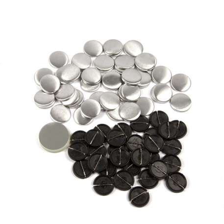 25mm Round G Series Plastic Pin Back Button Badge Components (G25PIN-PLASTIC)