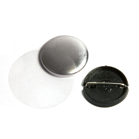 25mm Round G Series Plastic Pin Back Button Badge Components (G25PIN-PLASTIC) Thumbnail