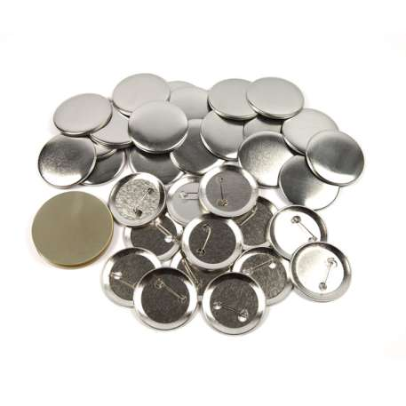 50mm Round G Series Metal Pin Back Button Badge Components (G50PIN-METAL)