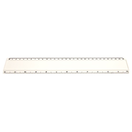 T12 Blank 12in Ruler Coloured - White