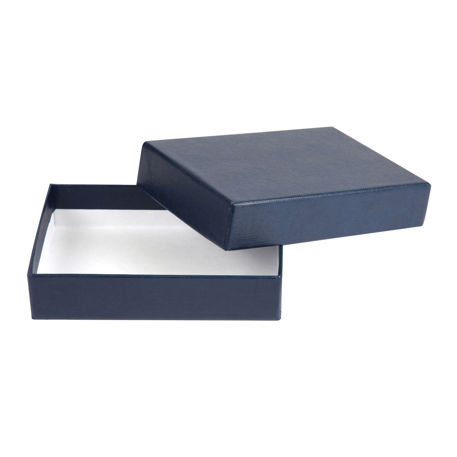 113 x 78 x 27mm Quality Gift Box - Textured Blue