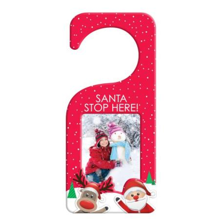 90mm x 60mm Blank Red Santa Door Hanger (XDHF1-RED) Thumbnail