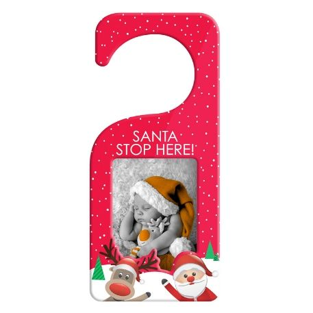 90mm x 60mm Blank Red Santa Door Hanger (XDHF1-RED)