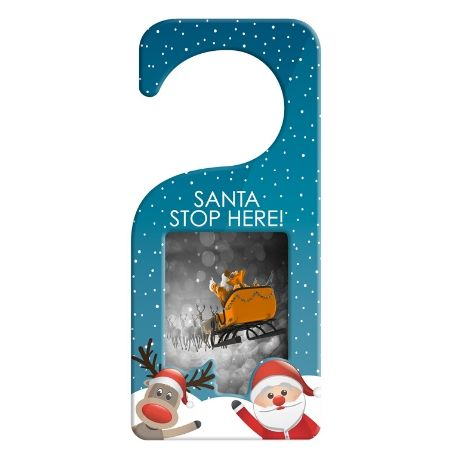 90mm x 60mm Blank Blue Snowman Door Hanger (XDHF1-BLUE)