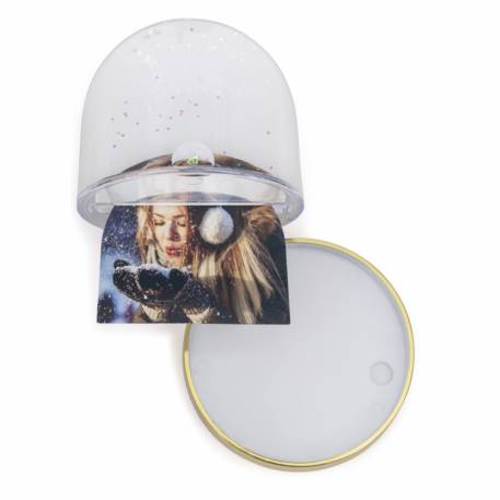 70mm x 62mm Blank Gold Base Snow Glitter Dome (SD1-GOLD) Thumbnail