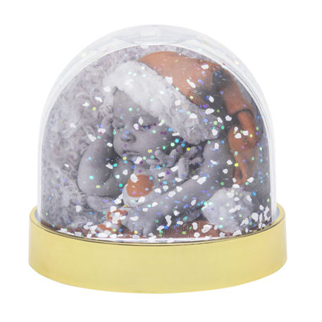70mm x 62mm Blank Gold Base Snow Glitter Dome (SD1-GOLD)
