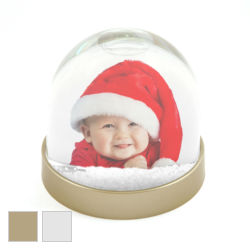SD1 Blank 70mm x 62mm SNOW - GLITTER Dome- Gold