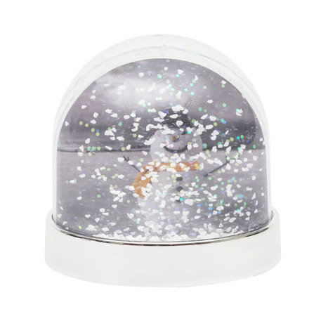 70mm x 62mm Blank Silver Base Snow Glitter Dome (SD1-SILVER)