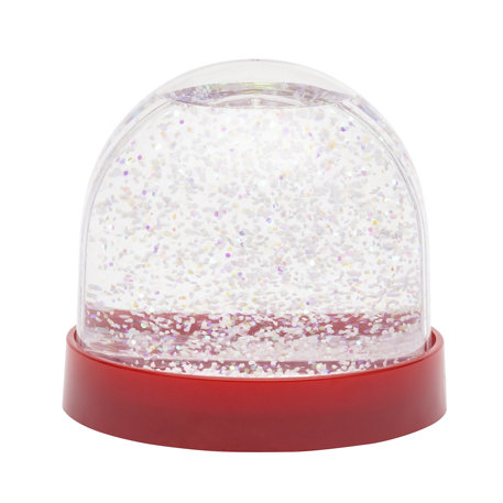 70mm x 62mm Blank Red Base Snow Glitter Dome (SD1-RED) Thumbnail