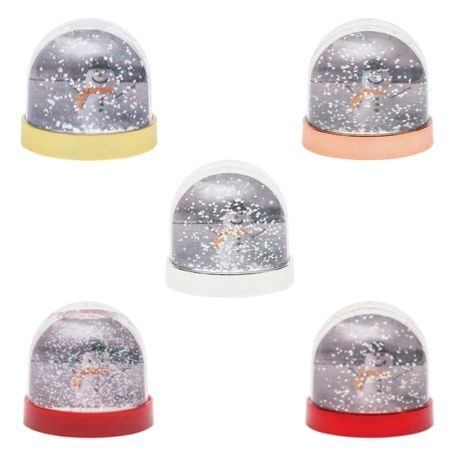 70mm x 62mm Blank Mixed Colour Bases Snow Glitter Dome (SD1-MIXED)