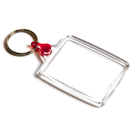A502 Blank 45mm x 35mm Keyring - Red