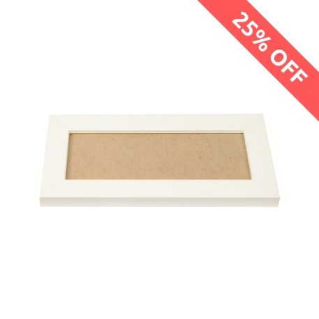 Blank 200mm x 80mm Door Plaque - White Thumbnail