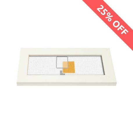 Blank 200mm x 80mm Door Plaque - White