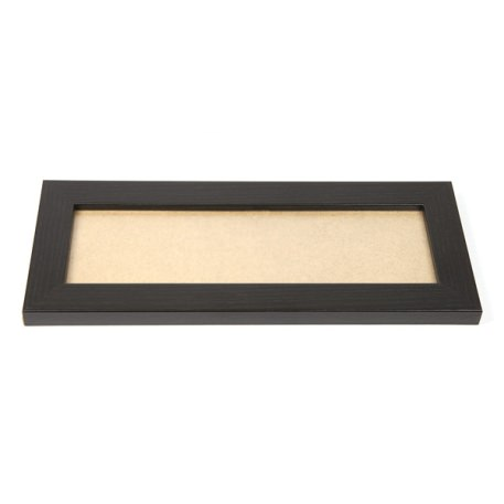 Blank 200mm x 80mm Door Plaque - Black