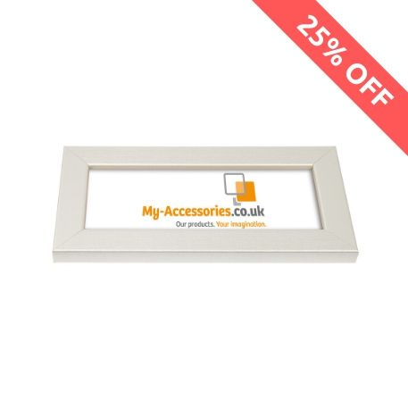 Blank 200mm x 80mm Door Plaque - Silver Thumbnail