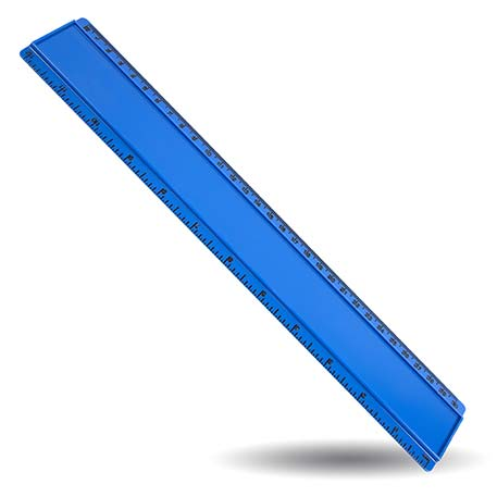 T12 Blank 12in Ruler Coloured - Blue Thumbnail