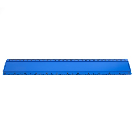 T12 Blank 12in Ruler Coloured - Blue