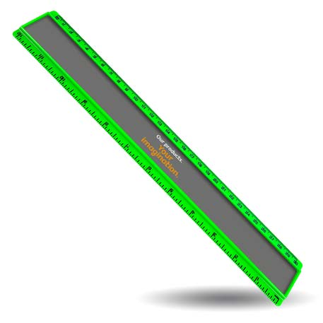 T12 Blank 12in Ruler Coloured - Green