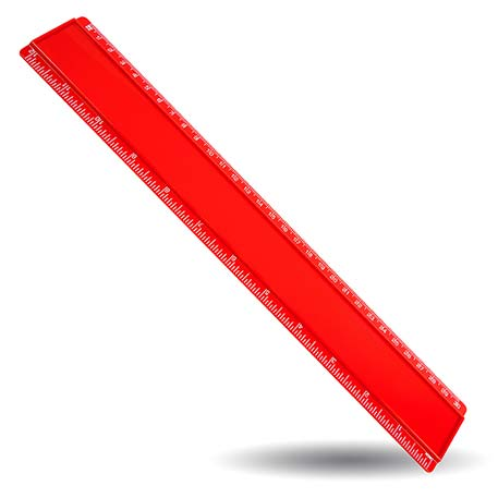 T12 Blank 12in Ruler Coloured - Red Thumbnail