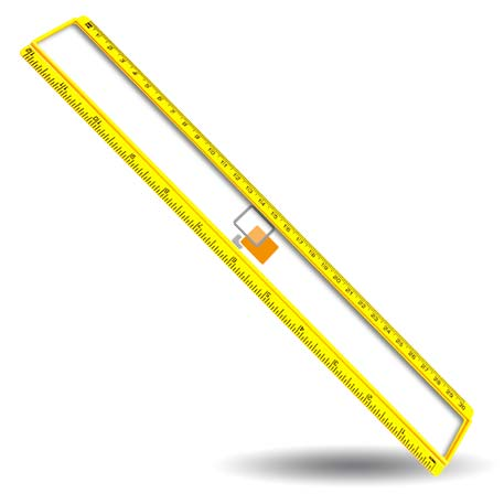 T12 Blank 12in Ruler Coloured - Yellow