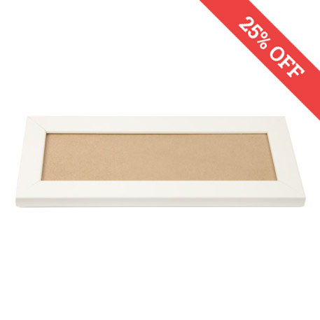 Blank 250mm x 80mm Door Plaque - White