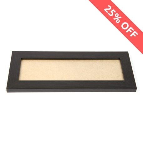 Blank 250mm x 80mm Door Plaque - Black