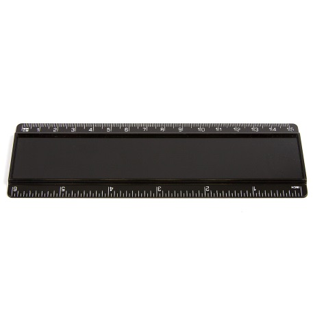 T6 Blank 6in Ruler Coloured - Black