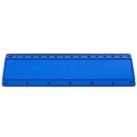T6 Blank 6in Ruler Coloured - Blue
