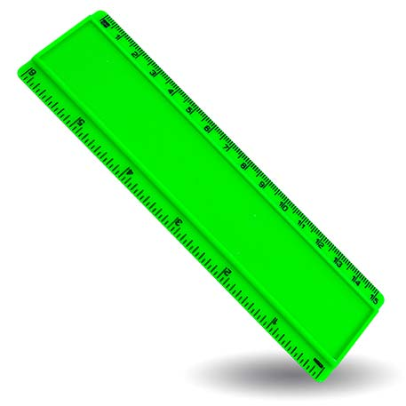 T6 Blank 6in Ruler Coloured - Green Thumbnail
