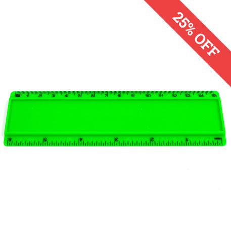 T6 Blank 6in Ruler Coloured - Green